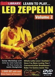 LICK LIBRARY LEARN TO PLAY LED ZEPPELIN ELECTRIC GUITAR VOLUME 2 DVD!
