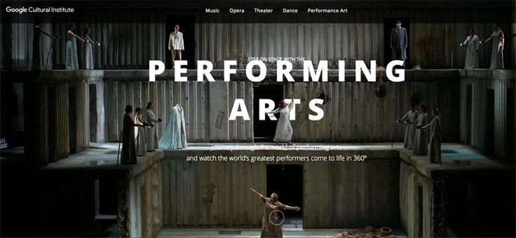 360° tours https://performingarts.withgoogle.com/en_us #art #photo #slideshow #360 #movie #video #scroll