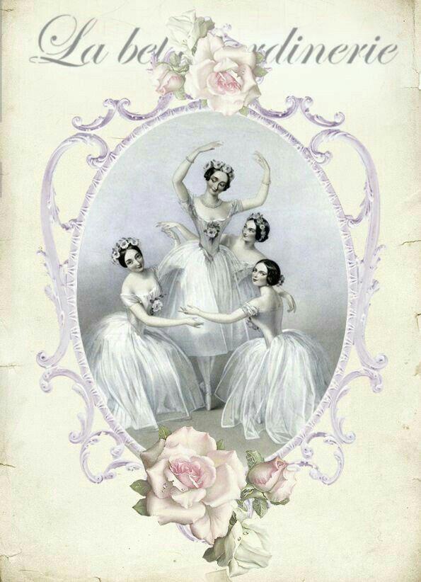 Открытки винтажные балерины, открытка