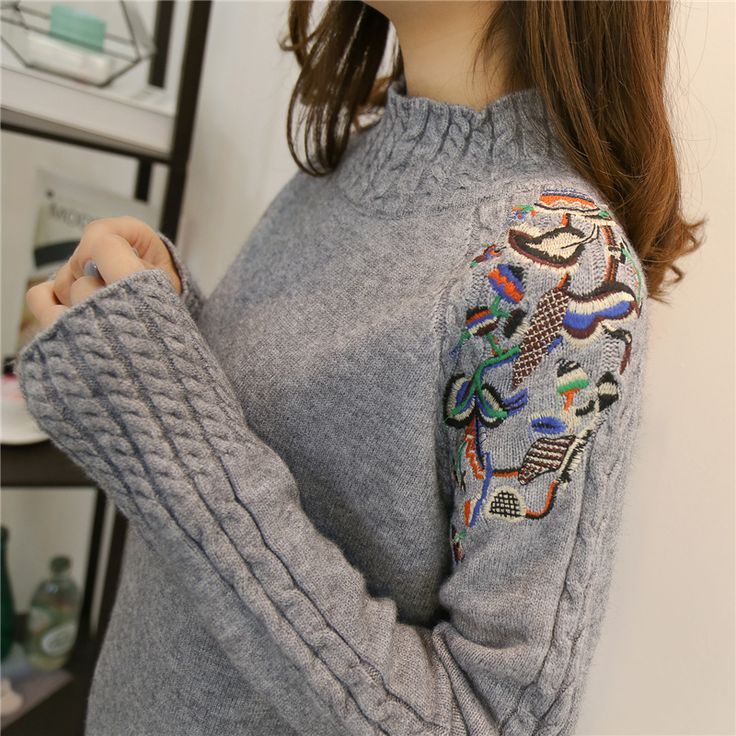 2017 Korean Fashion Women Sweaters and Pullovers Sueter Mujer Ruffled Sleeve Turtleneck Solid loose Sexy Elastic. Click visit to buy