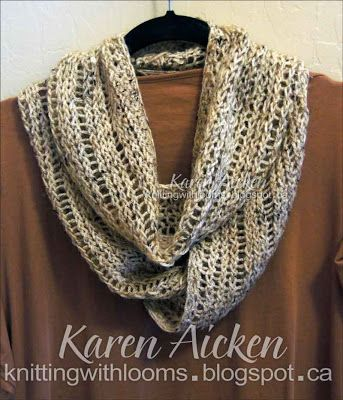 Infinity Scarf Loom Knitting Pattern For Beginners : 1000+ ideas about Loom Knitting Scarf on Pinterest ...