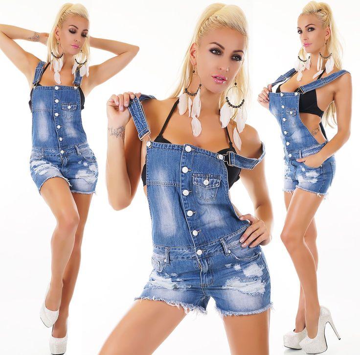 Women'S Dungaree Denim Jeans Romper Overall - Xs / S / M / L / Xl