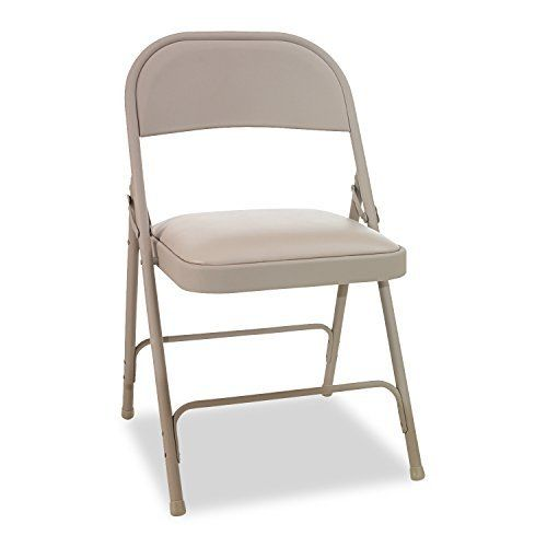 Traditional armless steel folding chairs are an office necessity. Sturdy tubular steel frame features a textured powder coat finish for long wear. Two-brace support provides strength and stability. Rubber caps on feet help protect floor. Fold and stack neatly for storage. Chair Type: Stationary... more details available at https://furniture.bestselleroutlets.com/game-recreation-room-furniture/folding-tables-chairs/product-review-for-alera-steel-folding-chair-with-padded-seat-