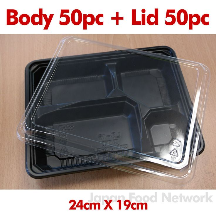 details about 50x disposable plastic bento lunch box lid. Black Bedroom Furniture Sets. Home Design Ideas