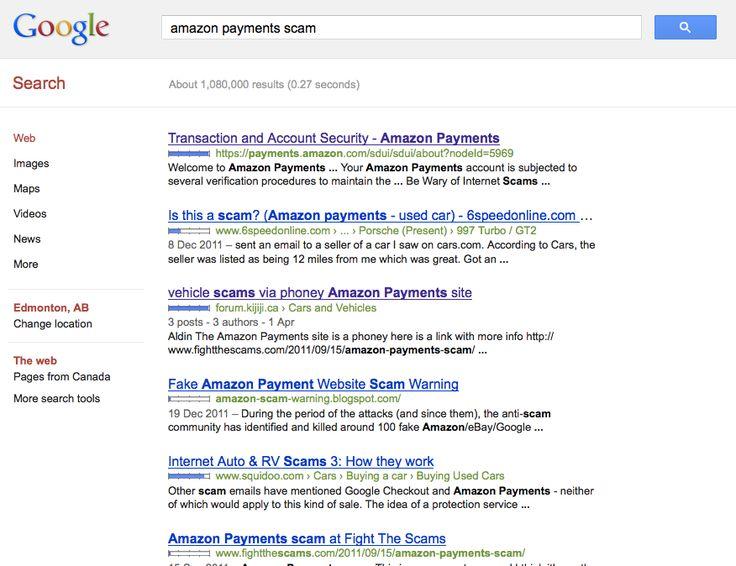 Amazon Payments Car Scam