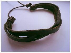 BEHAVE Leren wax koord gevlochten | Armbanden | VAN STRATEN & CO