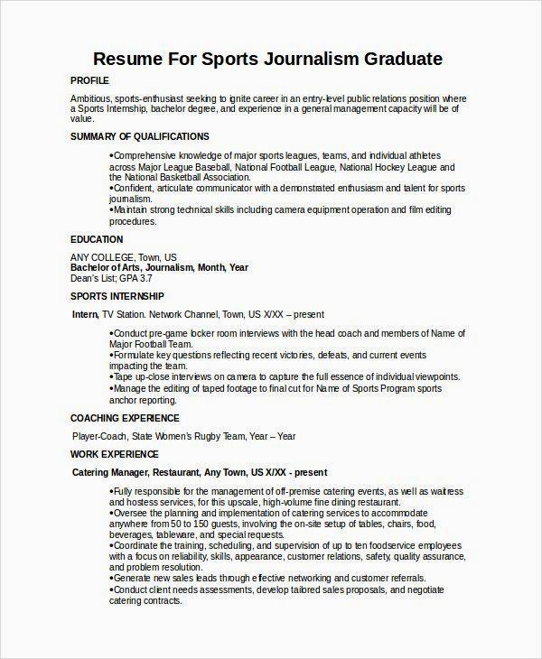 Journalism Resumes Resume templates, Sample resume, Resume