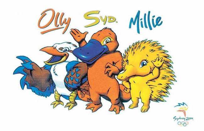 Olly, Syd and Millie – Sydney 2000