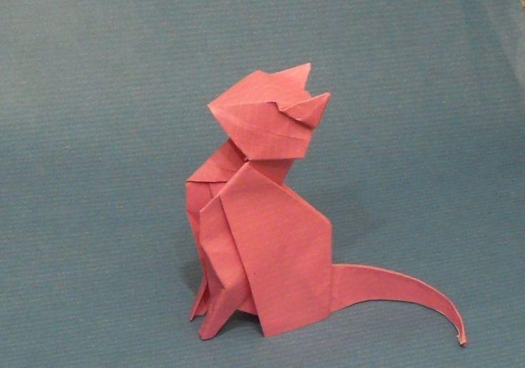 Origami Cat by Orestigami.deviantart.com on @deviantART