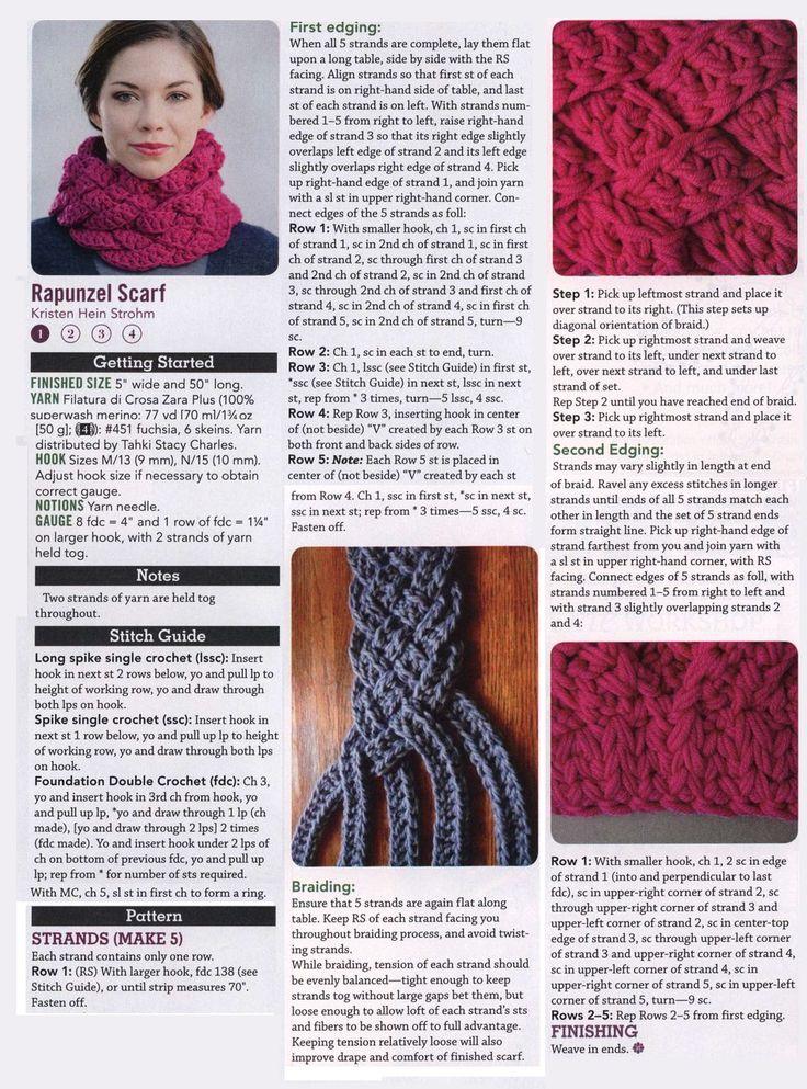 Crochet rapunzel scarf