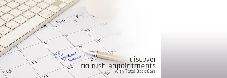 Discover no rush appointments with total back care! | totalbackcare.com.au