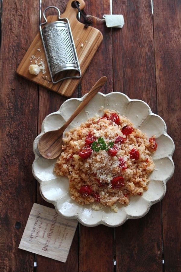 焼きトマトのパルミジャーノ混ぜご飯。 by 栁川かおり / レシピサイト「ナディア / Nadia」/プロの料理を無料で検索