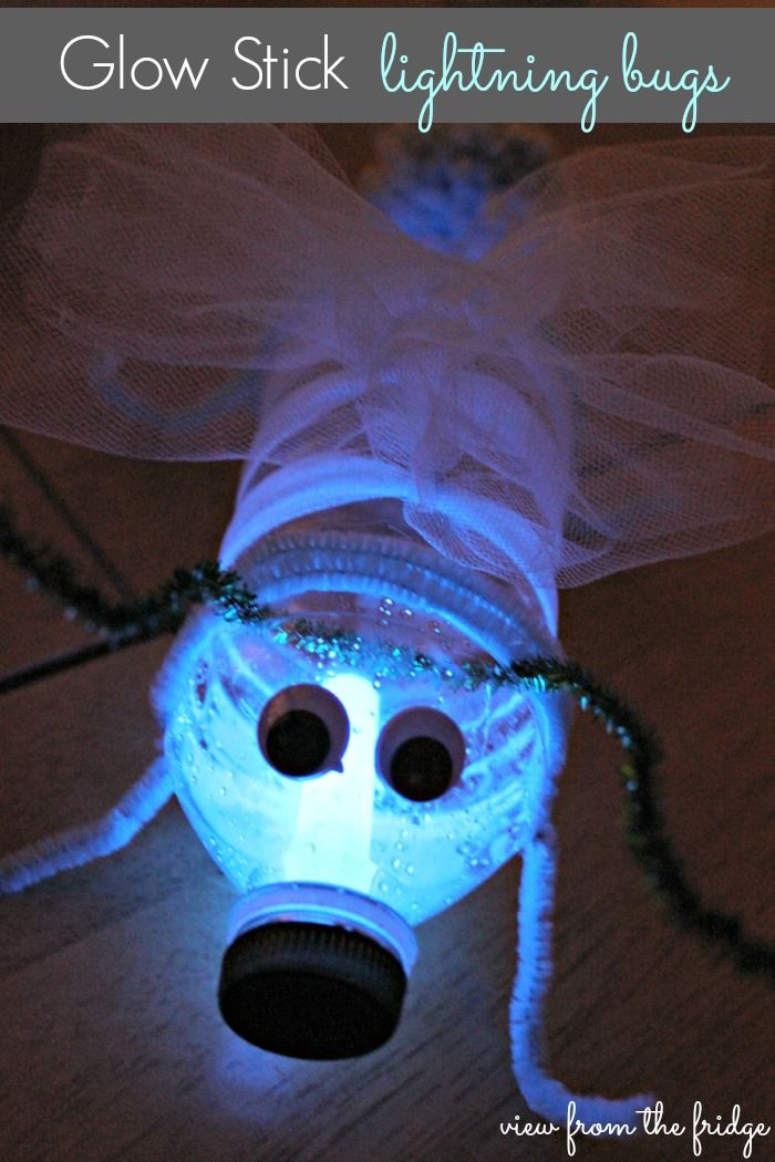 "Your kids' faces will light up over these adorable DIY lightning bugs. See how to make these glowing creatures with ""View From the Fridge."""