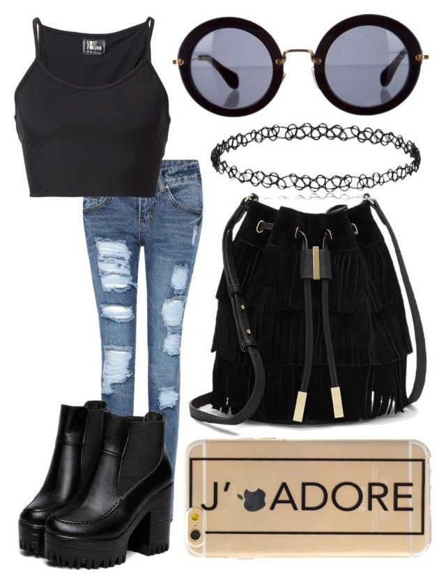 """×my ghost where'd you go×"" by futuremrsclifford ❤ liked on Polyvore featuring Lost & Found, Vince Camuto and Miu Miu"