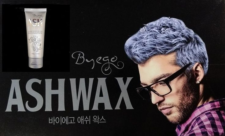 Silver Ash Hair Color Wax 3.53oz - Temporary Hair color Gray Styling -Easy wash #BYEGO