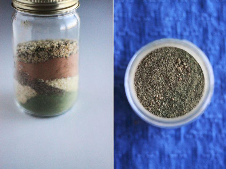 DIY Vegan Protein Power Mix by thefirstmess: Tasty, whole & vegan! #Protein_Powder #Vegan