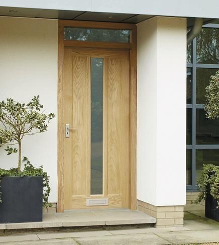 Front Door  External Worcester Oak Glazed