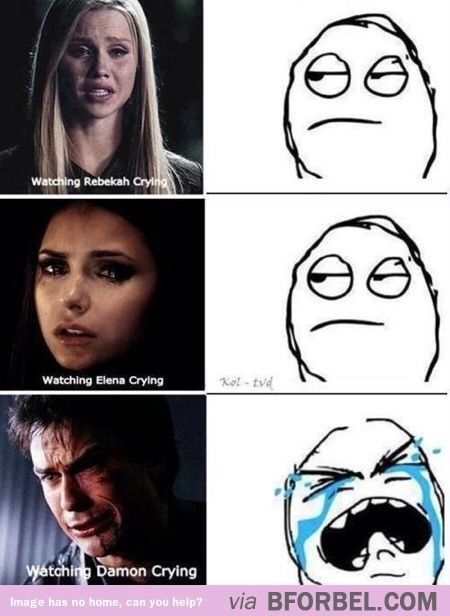 "Watching ""The Vampire Diaries""… This is actually very true"