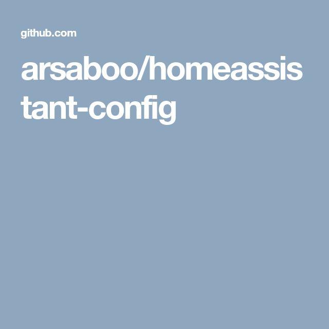arsaboo/homeassistant-config