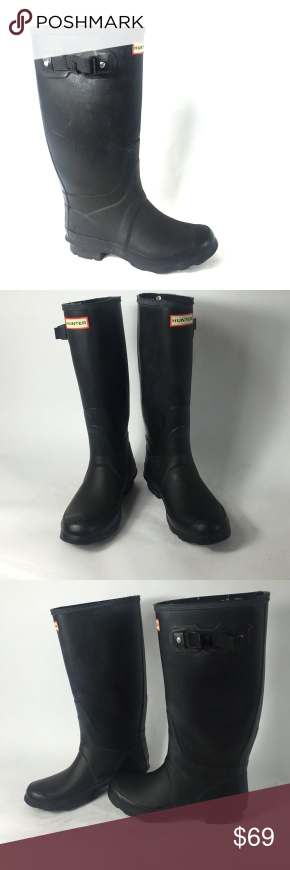 *Hunter* woman's boots 8.5/10. Very good condition. Can not really find much wrong on these. Size 37 (size 7). Minimal amount of wear, tear, and scuffs all around both shoes. I am a businessman, make me an offer I cant refuse! Please do not hesitate to ask any questions or for more pictures. Thank you for your time and have a wonderful day! Hunter Shoes Winter & Rain Boots