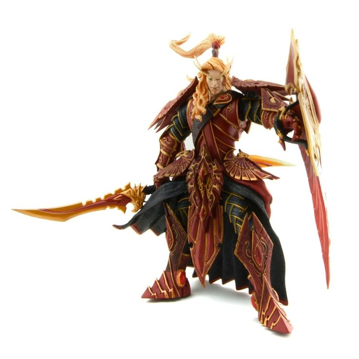 (27.84$)  Buy here  - Starz Online Game Wow Blood Elf Paladin Quin'thalan Sunfire Spell Breaker Knight Action Figures Model Toys Peripherals Gift