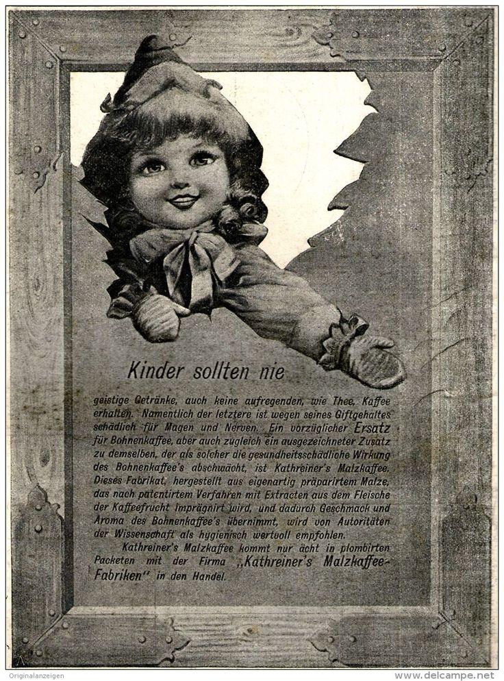 Original-Werbung/ Anzeige 1897 - KATHREINER'S MALZKAFFEE - MOTIV PUPPE  - ca. 120 x 170 mm