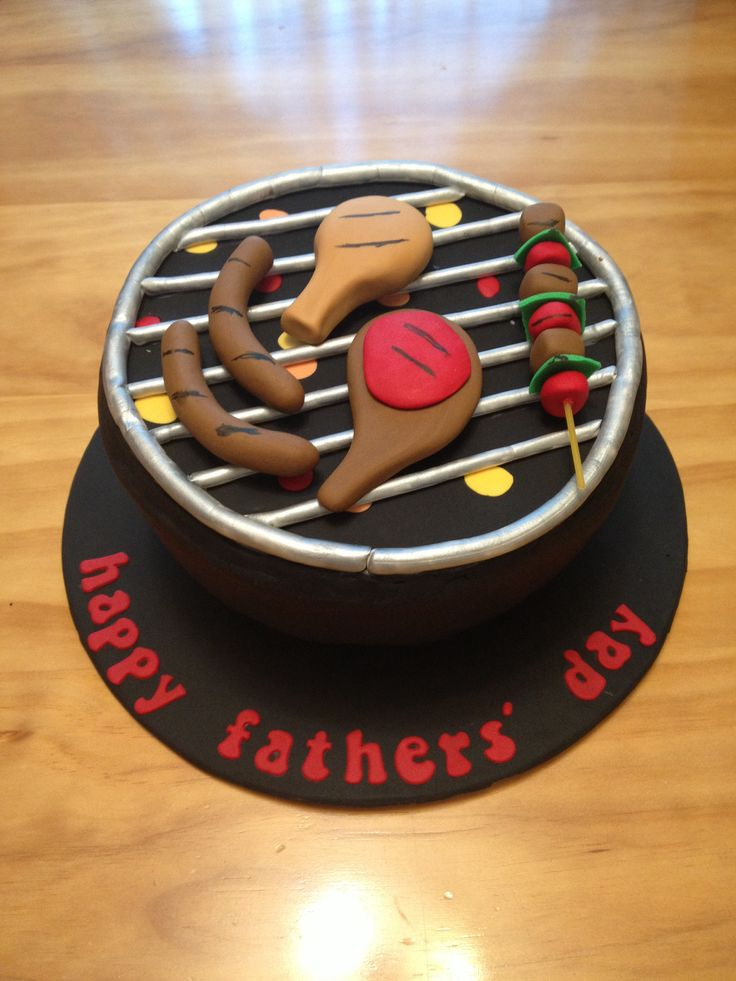 Webber BBQ cake for Father's Day. Chocolate mud with chocolate ganache.