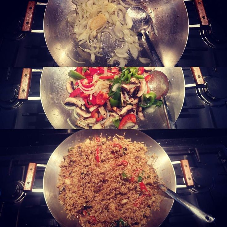 Tonight was all about veg fried rice. Let's cook !