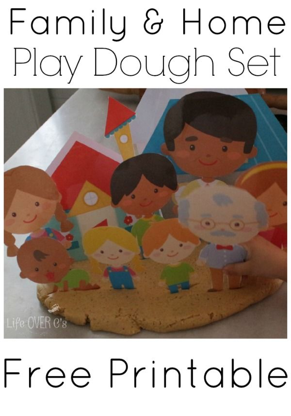 Family and Home Paper Dolls: Free Play Dough Printable