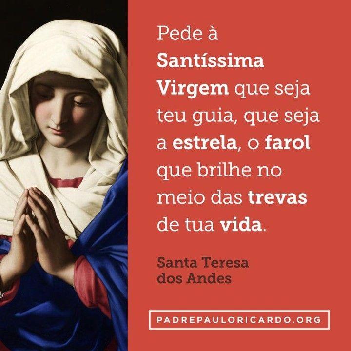 Santa Teresa Dos Andes Frases Pede à Santíssima Virgem Que Seja O