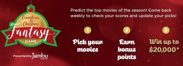 Win Big Cash Prizes on Hallmark Channel - Christmas Fantasy Game Sweepstakes