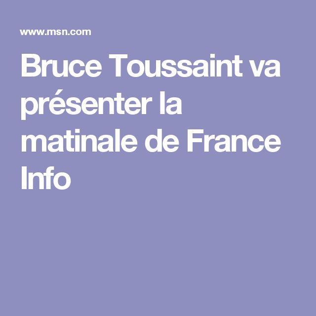 Bruce Toussaint va présenter la matinale de France Info