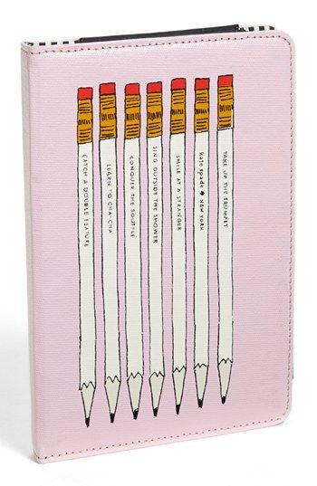 'pencils' iPad mini folio