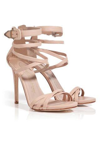Le Silla Nude Leather Strappy Sandals
