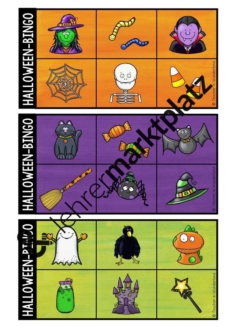 Epic Mit diesen farbenfrohen Bingospielfeldern macht es den Sch lern doch gleich viel mehr Spa neue Halloween W rter im Englisch oder DAZ Unterricht zu ben