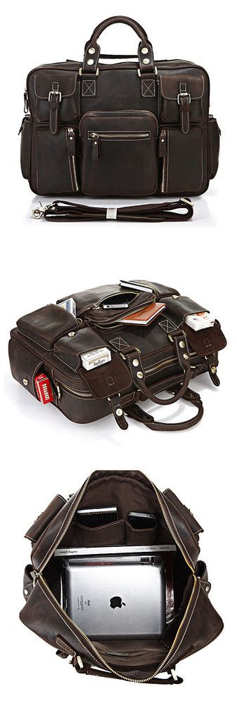 Vintage Handmade Genuine Crazy Horse Leather Business Travel Bag /Duffle bag/Luggage Bag(J-2)