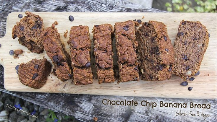 Chocolate Chip Banana Bread Recipe – gluten-free, vegan – Trinity's Conscious Kitchen