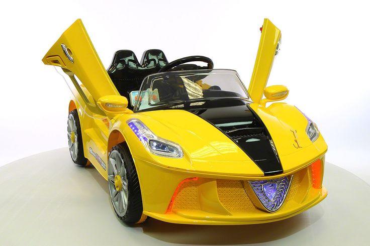 Ferrari Spider Style Kids Ride-On Car MP3 12V Battery Power Wheels R/C Parental Remote | Yellow