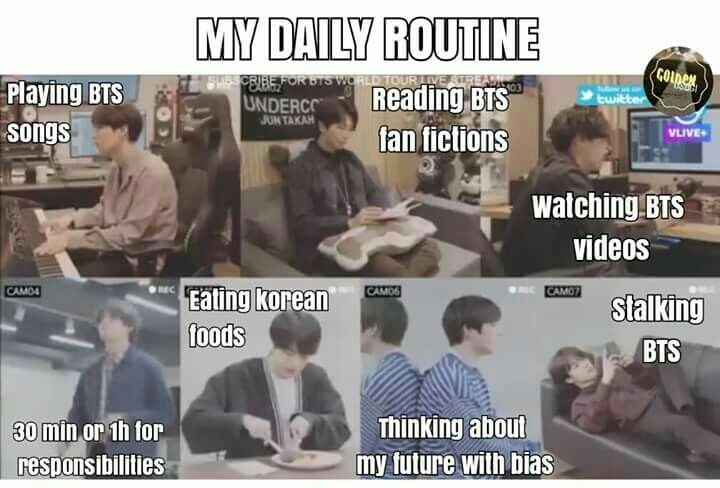 Army Daily Routine Memes Coreanos Memes Bts