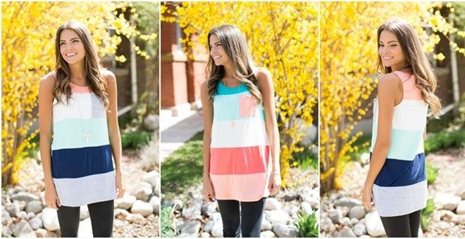 Color block top with sleeveless featuring pocket on the front.Fits true to size with a loose fit. We recommend ordering the size you would typically order. Models are wearing size small.Select color base on the first color on top (on shoulders).