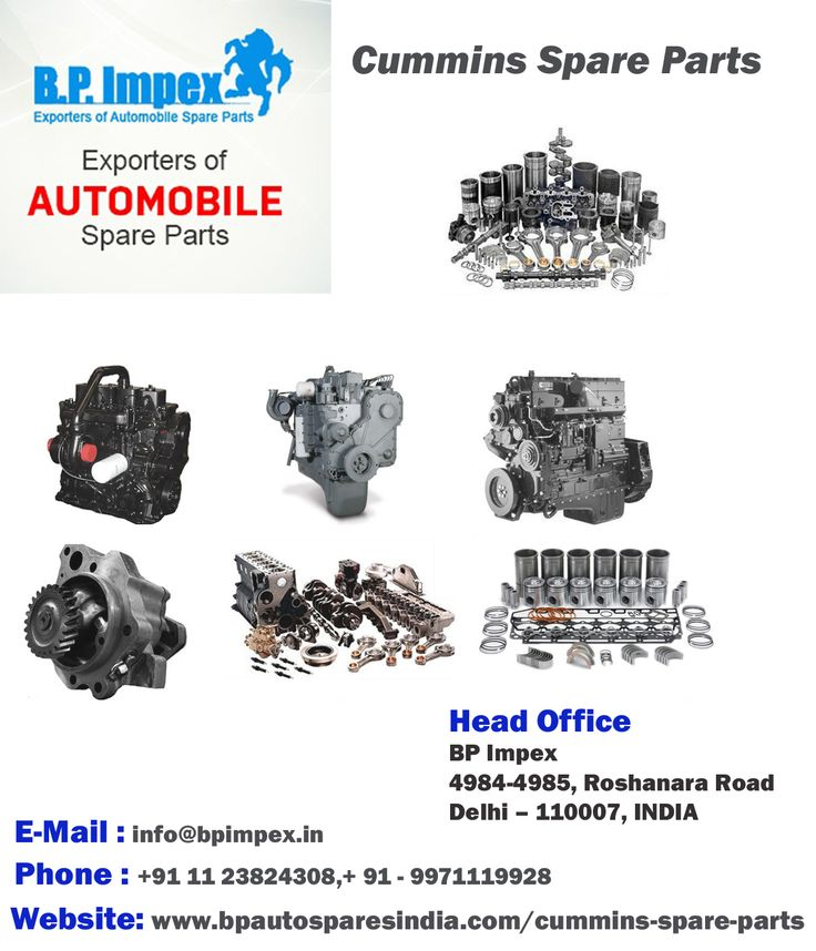 We are a leading-edge dealer of Parts For Cummins 6Bt In India, possessing an extensive experience of providing our customers with genuine and reliable replacement spares. CUMMINS 4BT, Cummins 6Bt Parts, CUMMINS 6CT, Cummins N14 Parts, Nt855 Spare Parts, etc.