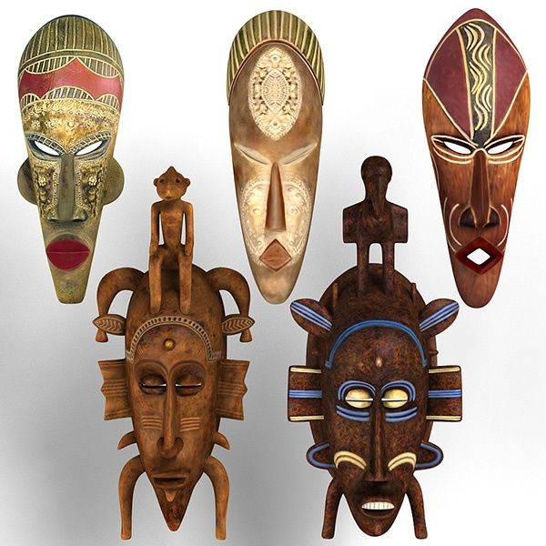 African Masks Collection  By Digital Artist: zbignev