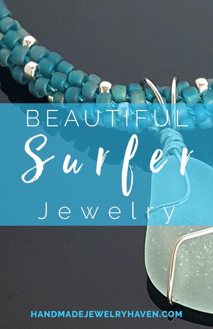 Beautiful nautically inspired wire wrapped seaglass necklace! #seaglassjewelry #surferjewelry #yachtfashion