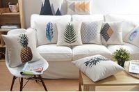 Nordic simple ananas oreiller feuilles fraîches coussin oreiller de lin coussins du canapé oreillers décoratifs pour la maison