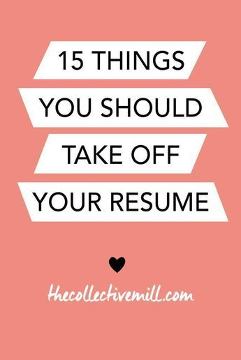 "Sometimes, during a job search, it can be easy to go a little overboard on your resume. Sharing every single accomplishment and making it look overly extravagant can be temping. Here are 15 things you should take off your resume to make it look shiny and new. ---- If you are a woman looking to become a confident leader and land your dream job, check out ""The Professional Woman's Guide to Getting Promoted"" Find it at www.HugSpeak.com."