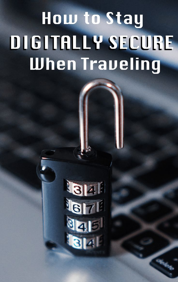 Internet security when traveling is just as important as physical security. Nobody wants to be worrying about hackers and identity thieves when traveling. Read the full article to get travel security tips and tricks on everything from VPNs to RFID blocking technology, and learn how to stay digitally secure when traveling. Don't forget to save this to your travel board! | #travel #cyber #security