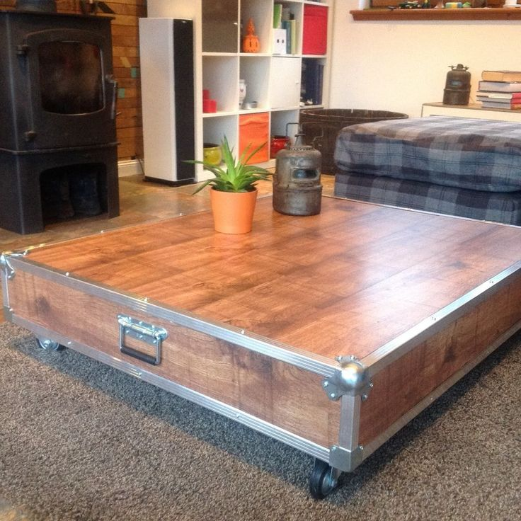retro industrial furniture. Upcycled Retro Industrial Loft Chic Reclaimed Pallet Coffee Table With Wheels Furniture E