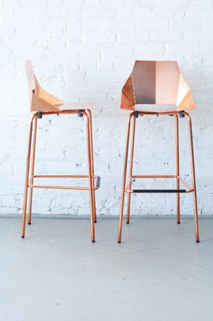 Copper stool by BluDot, $65 per day, available nationwide from Patina