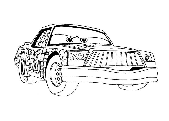 Cars Chick Hicks Coloring Pages