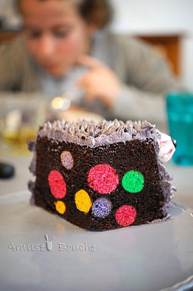 The monster cake - Amuses bouche À reprendre l'idée des boules colorées